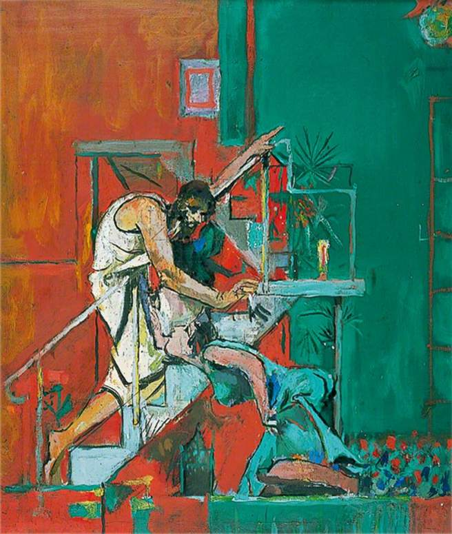 Sutherland, Graham Vivian, 1903-1980; Christ Appearing to Mary Magdalen (Noli me Tangere)